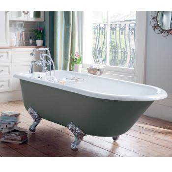 Heritage Wessex Freestanding Cast Iron Roll Top Bath & Feet