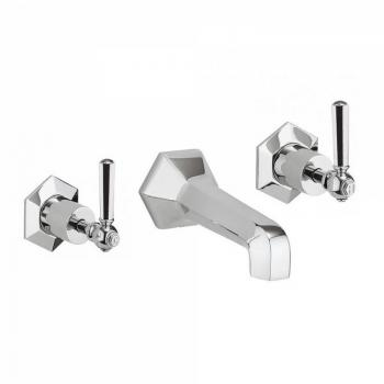 Crosswater Waldorf Chrome Lever Wall Mounted Bath Filler