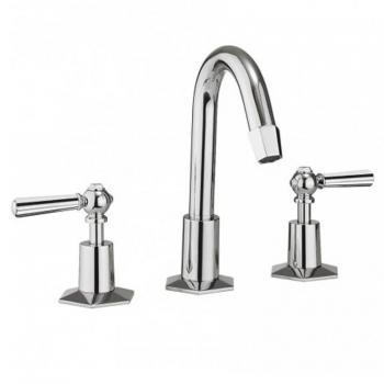 Crosswater Waldorf Chrome Lever Basin 3 Hole Set