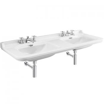 Bauhaus Waldorf 150 Double Wall Mounted Three Tap Hole Basin