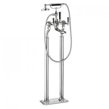 Crosswater Waldorf Black Lever Floorstanding Bath Shower Mixer