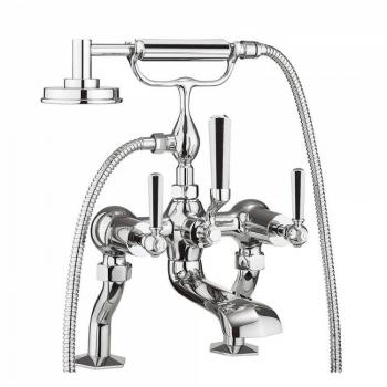 Crosswater Waldorf Chrome Lever Bath Shower Mixer With Kit