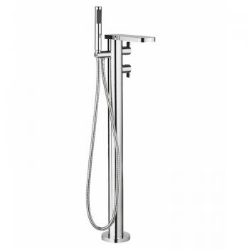 Crosswater Wisp Floorstanding Thermostatic Bath Shower Mixer With Kit
