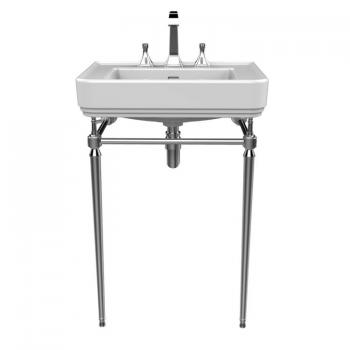 Heritage Wynwood Basin & Abingdon Chrome Washstand