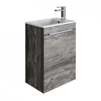 Bauhaus Zion Driftwood 500mm Wall Hung Vanity Unit & Basin