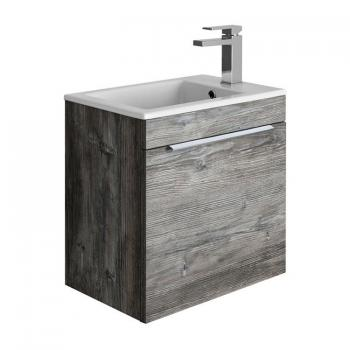 Bauhaus Zion Driftwood 500mm Wall Hung Drawer Vanity Unit & Basin