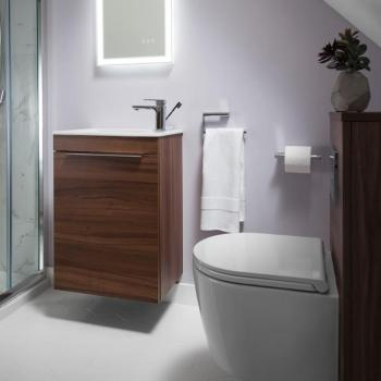 Bauhaus Zion Windsor Oak 500mm Wall Hung Vanity Unit & Basin
