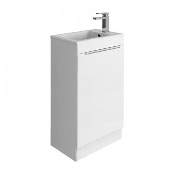 Bauhaus Zion White Gloss 500mm Floorstanding Vanity Unit & Basin