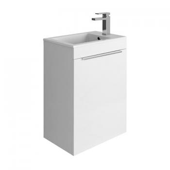 Bauhaus Zion White Gloss 500mm Wall Hung Vanity Unit & Basin