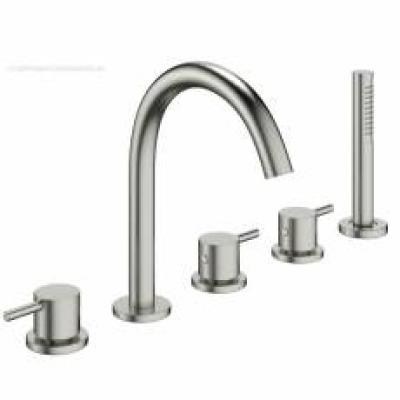 Brushed Stainless Steel Bath Shower Mixers