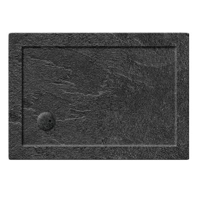 Simpsons 35mm Grey Slate Acrylic Rectangle Shower Trays